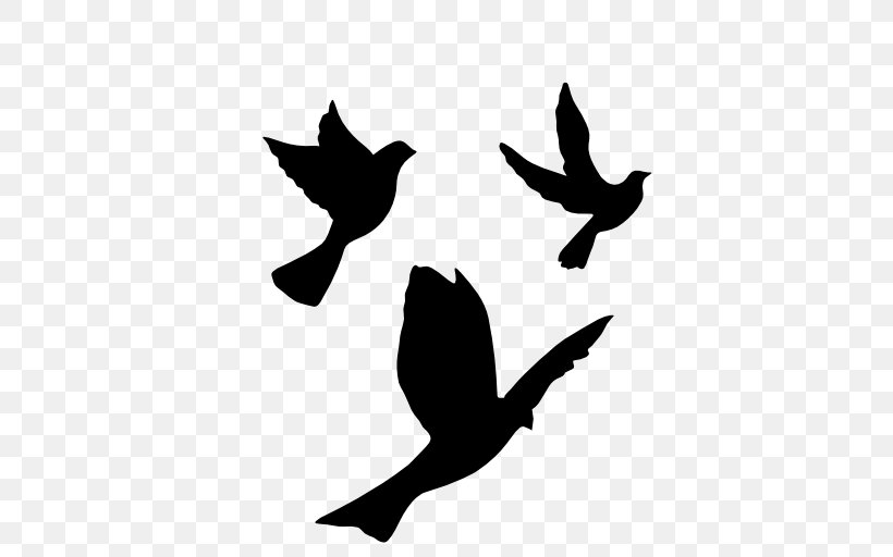 Bird Flight Stencil Silhouette Drawing Png 512x512px Bird Art Beak Bird Flight Black And White Download