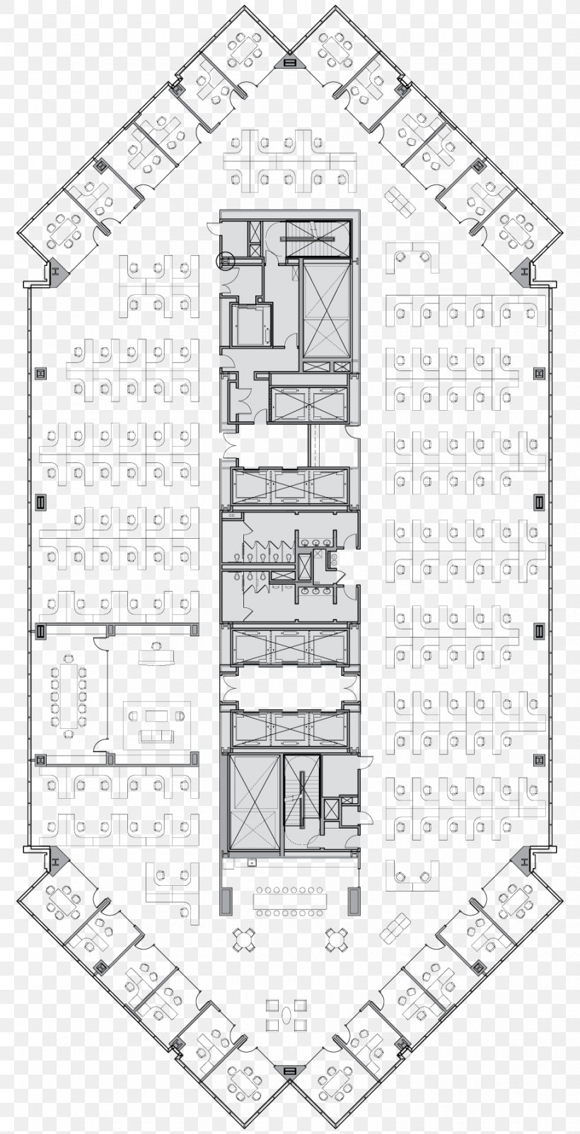 Floor Plan Architecture High-rise Building Architectural
