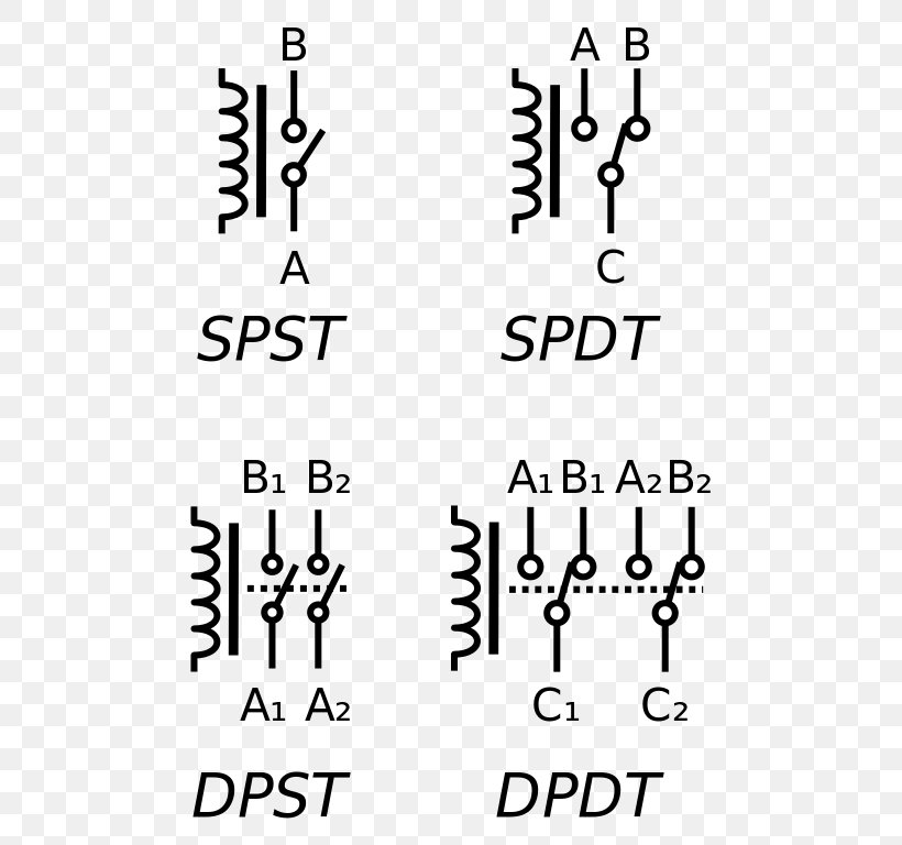Electronic Symbol Relay Electrical Switches Circuit