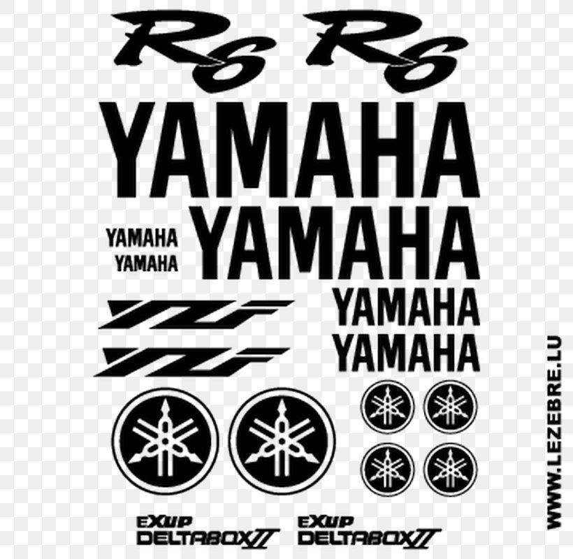 Yamaha YZF-R1 Logo Brand Yamaha Motor Company Sticker, PNG