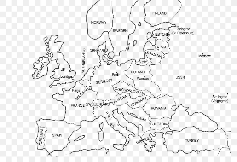 Blank Map Of Europe Before Ww2