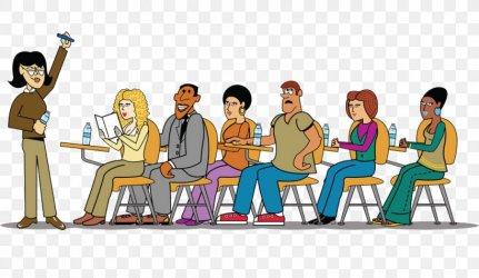 Student Teacher Cartoon Clip Art PNG 1000x580px Student Cartoon Class Classroom Communication Download Free