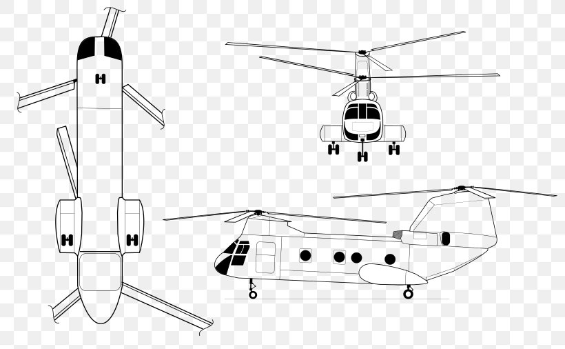 Helicopter Rotor Boeing Vertol CH-46 Sea Knight Boeing CH