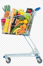 Grocery Shopping Cart Png