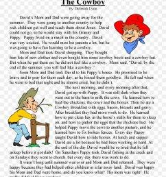 Reading Comprehension Fifth Grade Third Grade Sixth Grade Short Story [ 1061 x 820 Pixel ]