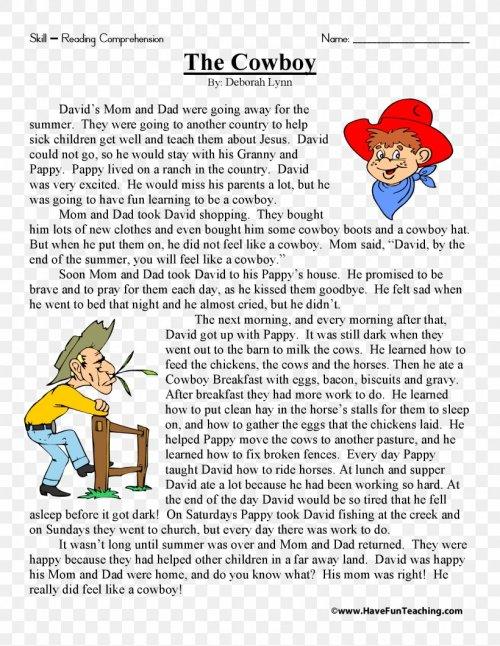 small resolution of Reading Comprehension Fifth Grade Third Grade Sixth Grade Short Story