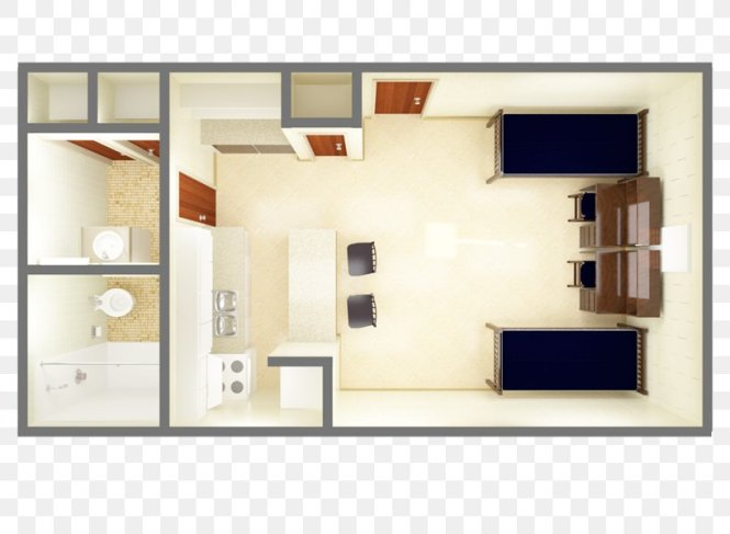 Floor Plan Studio Apartment House