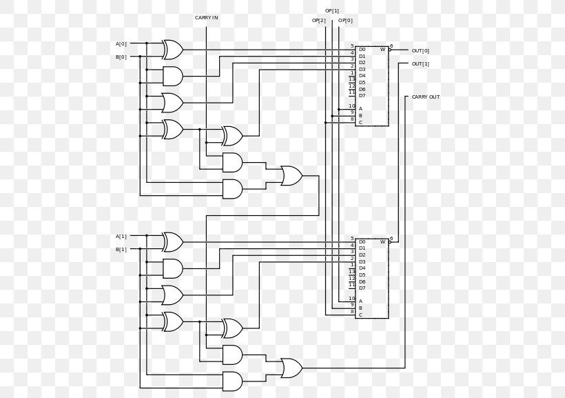 Arithmetic Logic Unit 4-bit Circuit Diagram Wiring Diagram