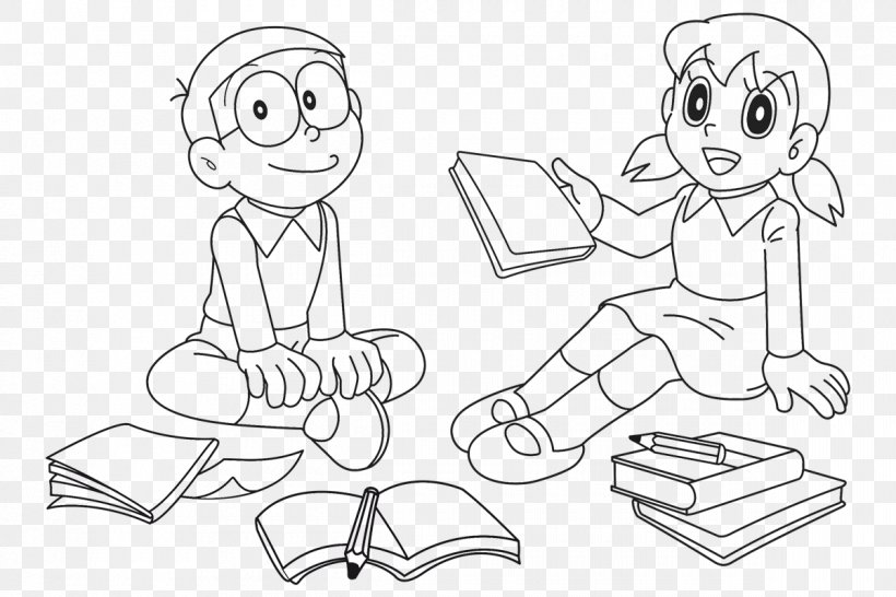 Drawing Doraemon Wii Shizuka Minamoto Coloring Book, PNG