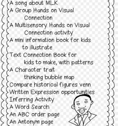 Black History Month First Grade Martin Luther King Jr. Day Worksheet [ 1160 x 820 Pixel ]