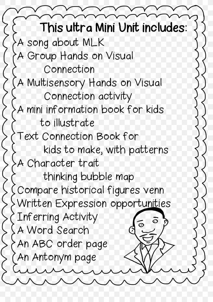 hight resolution of Black History Month First Grade Martin Luther King Jr. Day Worksheet