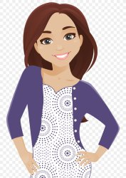 Clip Art Image Woman Brown Hair Illustration PNG 744x1152px Watercolor Cartoon Flower Frame Heart Download Free