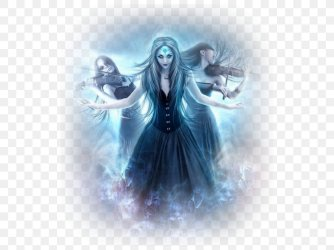 Fantasy Gothic Art Ghost Painting PNG 540x612px Watercolor Cartoon Flower Frame Heart Download Free
