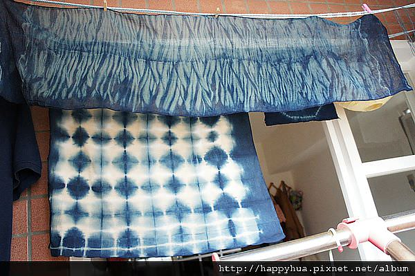 【藍染真好玩】台中荒野藍染課_綁染 綁出美麗水波紋