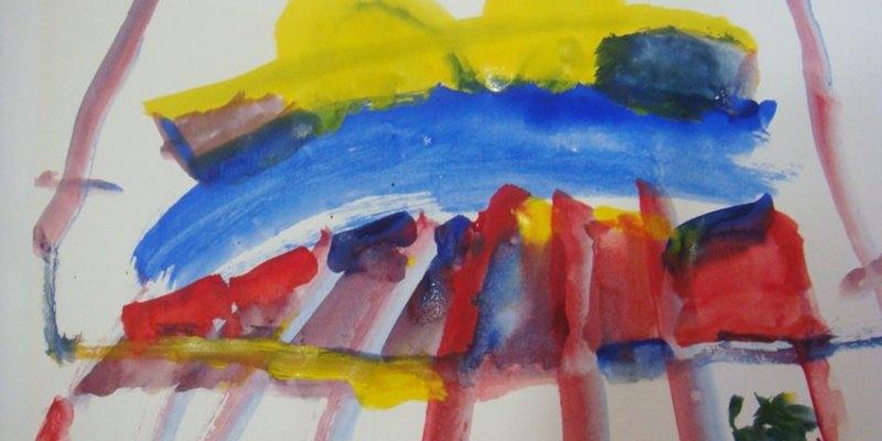 親子 小小孩愛畫畫 鄭寶貝四歲水彩塗鴉紀錄