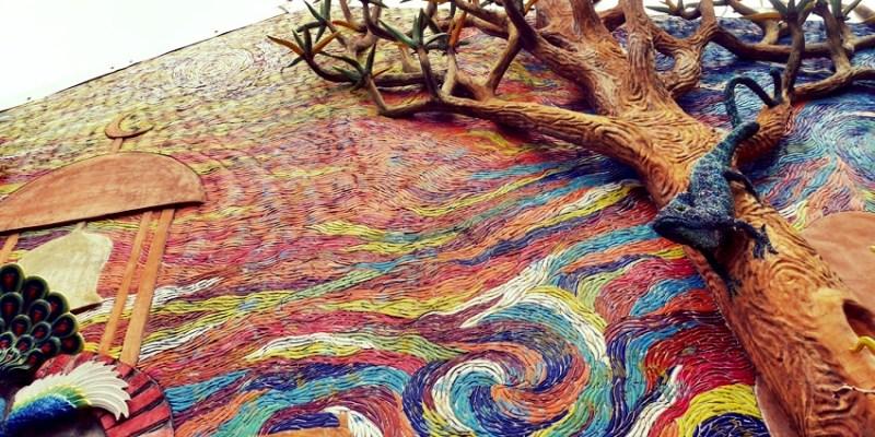 北港老街|諸元內科醫院~沙漠中的祕密花園 頂樓的藝術奇幻世界 北港私房景點