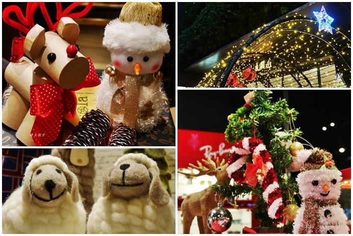 勤美誠品綠園道~不只有聖誕樹和聖誕時空隧道 店家聖誕裝飾也吸睛