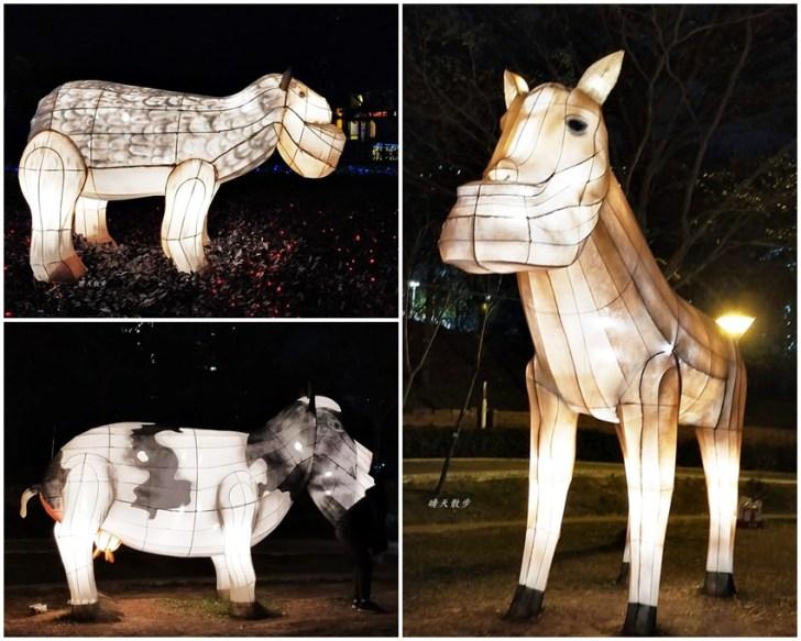 20200213164445 7 - 台中燈會|2020台灣燈會在台中,副展區文心森林公園戽斗星球動物晚上也好拍,還有人造雪喔!