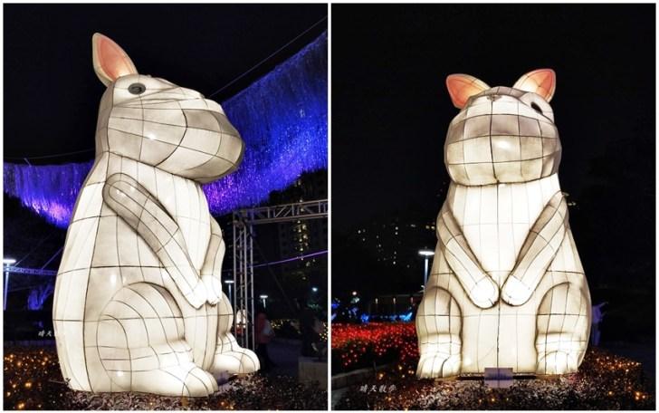20200213164453 60 - 台中燈會|2020台灣燈會在台中,副展區文心森林公園戽斗星球動物晚上也好拍,還有人造雪喔!