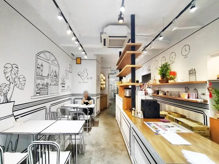 一起ㄔ雞~黑白漫畫風格的美式炸雞店,飲料、炸雞、炸物、簡餐通通有,還有炸全雞,近審計新村