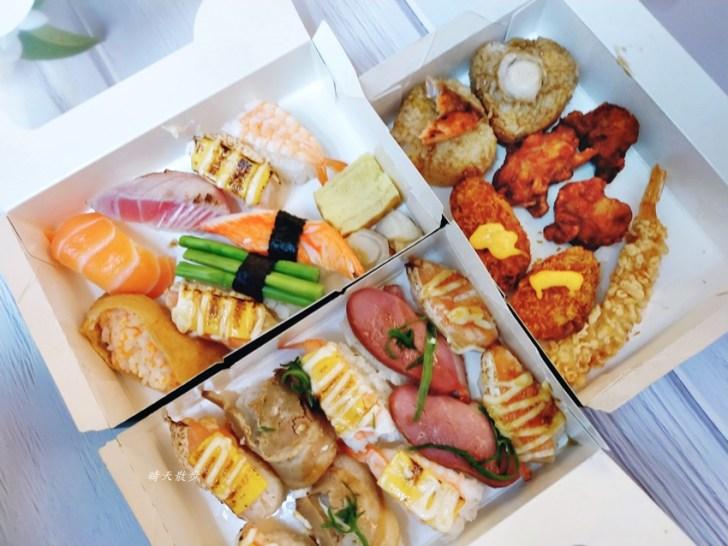 20200425232149 92 - 西區便當|点爭鮮迴轉壽司也有便當喔!壽司餐盒120元,菜色選擇挺豐富,也有炸物、烤飯糰