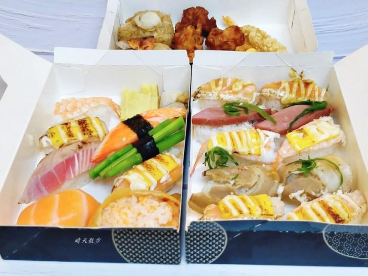 20200425232150 29 - 西區便當|点爭鮮迴轉壽司也有便當喔!壽司餐盒120元,菜色選擇挺豐富,也有炸物、烤飯糰
