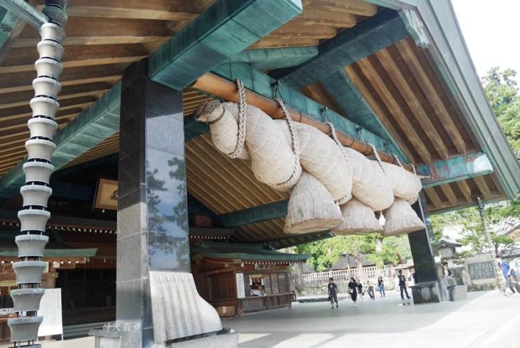 山陰山陽親子遊|充滿神話色彩的出雲大社~日本最大的注連繩,可愛的結緣因幡白兔