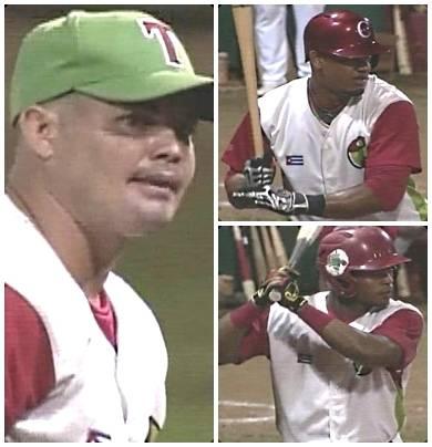 Luis Angel Gomez, Yosvany Alarcon y Rafael Viñales