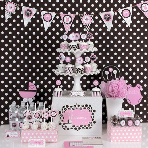 Pink Ladybug Baby Shower Decorations