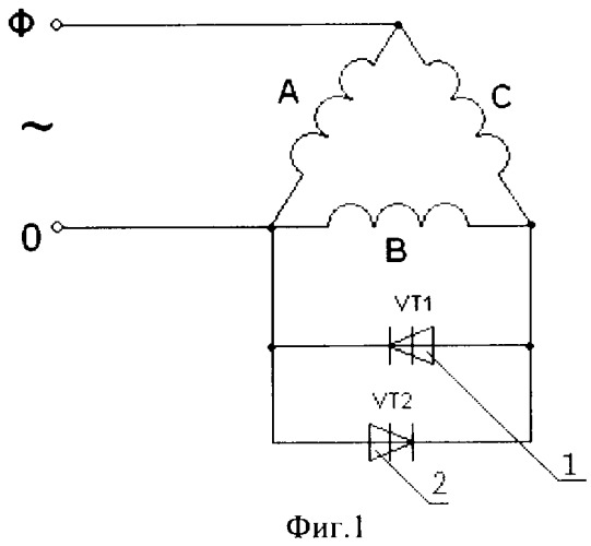 Device for capacitor-free start of three-phase electric