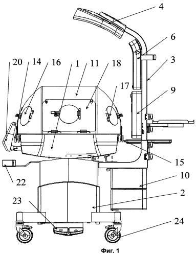 Incubator-resuscitation system for newborn babies