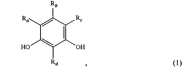 Use of 1,3-dihydroxybenzol as sensitizers of bacterial