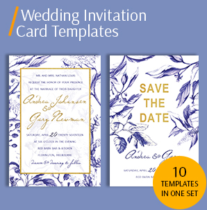 wedding invitation card template packs