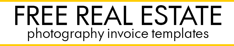 Real estate photography contract - Download the template free
