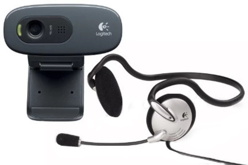 Logitech C270h HD Webcam (with Headphone)