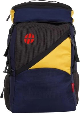 Harissons Canon 25 L Backpack(Navy blue, Yellow)