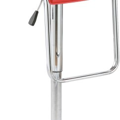 Steel Chair Flipkart Cuddle Bed Exclusive Furniture Metal Bar Stool Finish Color Red