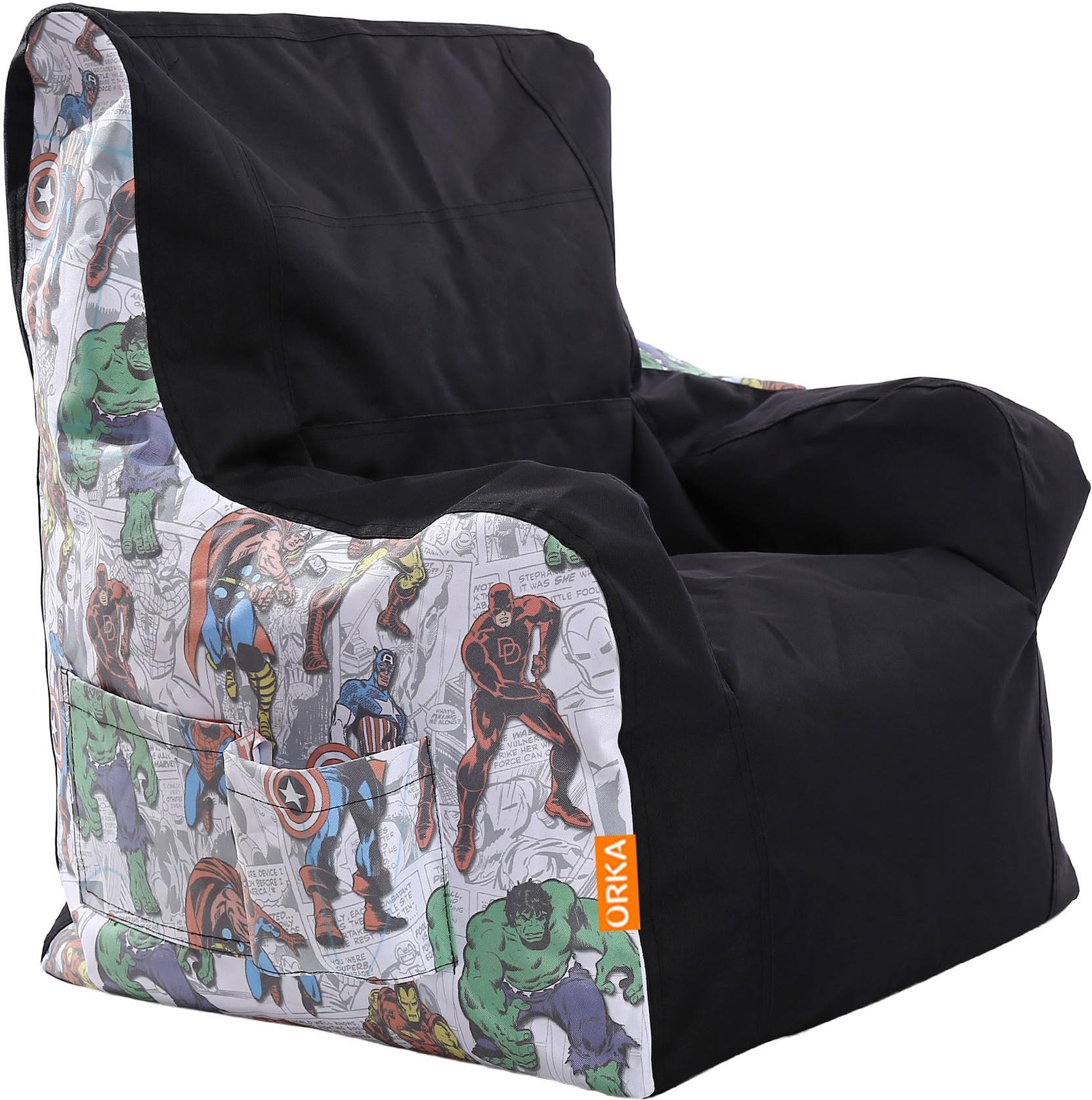 avengers bean bag chair room hammock orka xxxl digital printed arm with furniture price list