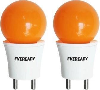 Eveready 0.5 W Plug & Play LED Bulb(Orange, Pack of 2)