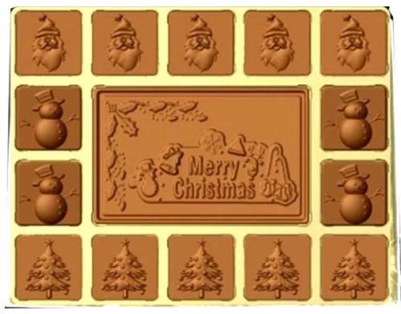 Ghasitaram Gifts Sugarfree Merry Christmas Box Chocolate Bars(Pack of 15, 300 g)