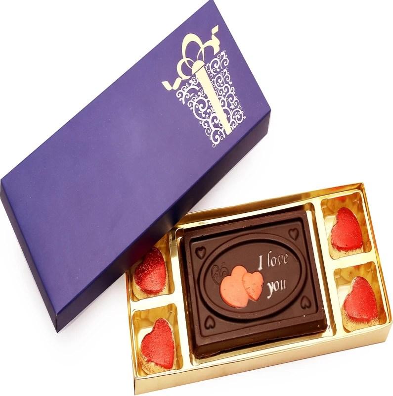 Ghasitaram Gifts Valentine Celebration Box Small Chocolate Bars(Pack of 5, 130 g)