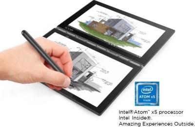 Lenovo Yoga Book Atom Quad Core - (4 GB/64 GB EMMC Storage/Windows 10 Home) yb1-x91l 2 in 1 Laptop(10.1 inch, Carbon Black, 0.69 kg)