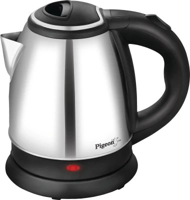 Pigeon Shiny Electric Kettle(1.5 L, Silver, Black)