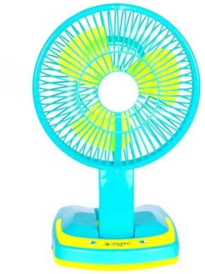 SURYATEJA Rechargeable Ac-Dc 2 Speed And 21 SMD Light 3 Blade Table Fan(GREEN/)