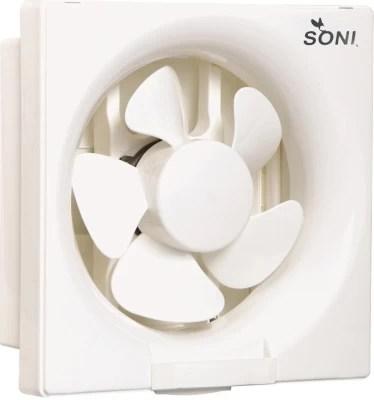 Soni Ventil Air 5 Blade 8 Inch 5 Blade Exhaust Fan(White)