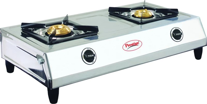 Prestige Agni Stainless Steel Manual Gas Stove(2 Burners)