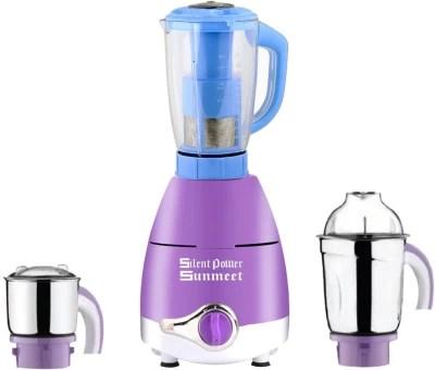 SilentPowerSunmeet ABS Plastic LPMA17_138 600 W Juicer Mixer Grinder(Lavender, 3 Jars)