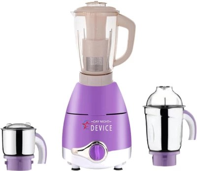 Day-Night Star Device ABS Plastic LPMA17_210 600 W Juicer Mixer Grinder(Lavender, 3 Jars)