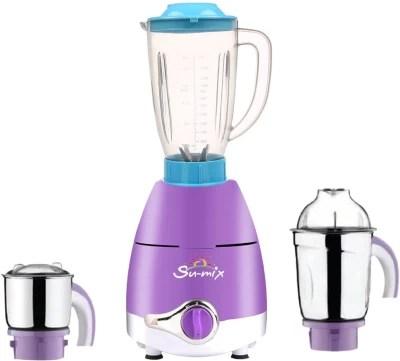 Su-mix ABS Plastic LPMA17_282 1000 W Juicer Mixer Grinder(Lavender, 3 Jars)