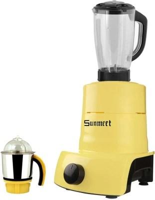Sunmeet ABS Plastic YPMG17_558MA 600 W Juicer Mixer Grinder(Yellow, 2 Jars)